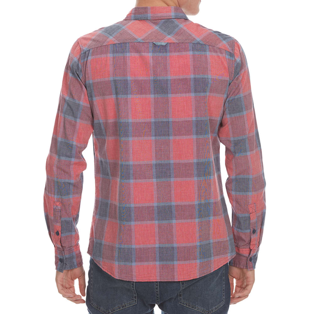 OCEAN CURRENT Guys' Oscar Plaid Long-Sleeve Shirt - NEW RED