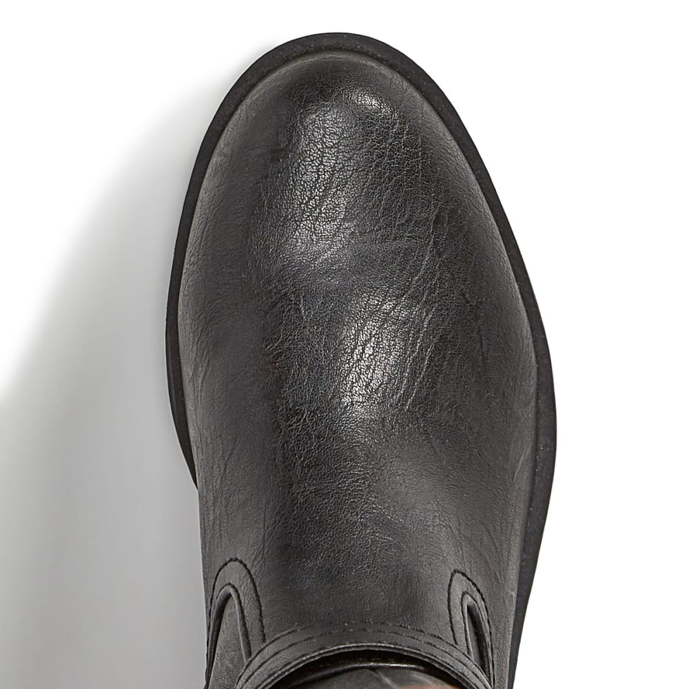 RAMPAGE Women's Ivelia Riding Boots, Black/Cognac, Wide - BLACK/COGNAC