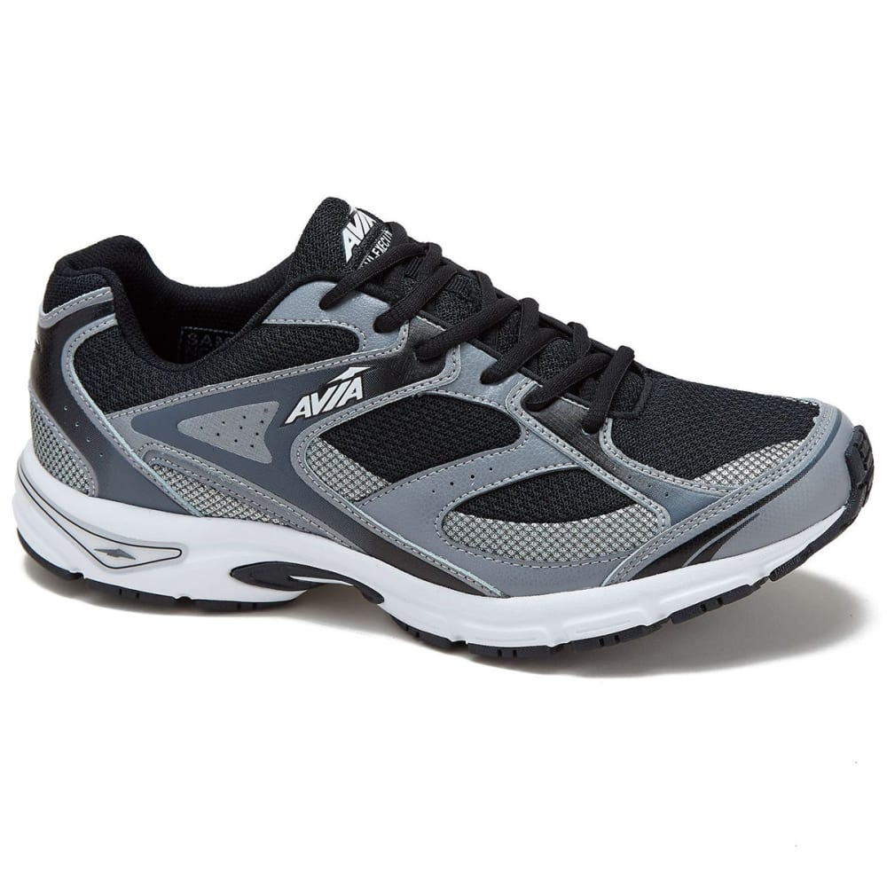 AVIA Men's Avi-Execute Running Shoes, Black/Frost Grey/White, Extra Wide - BLACK