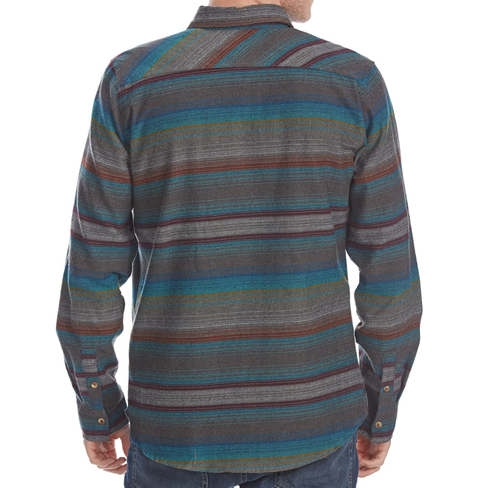 OCEAN CURRENT Guys' Hammock Stripe Flannel Long-Sleeve Shirt - MULTI