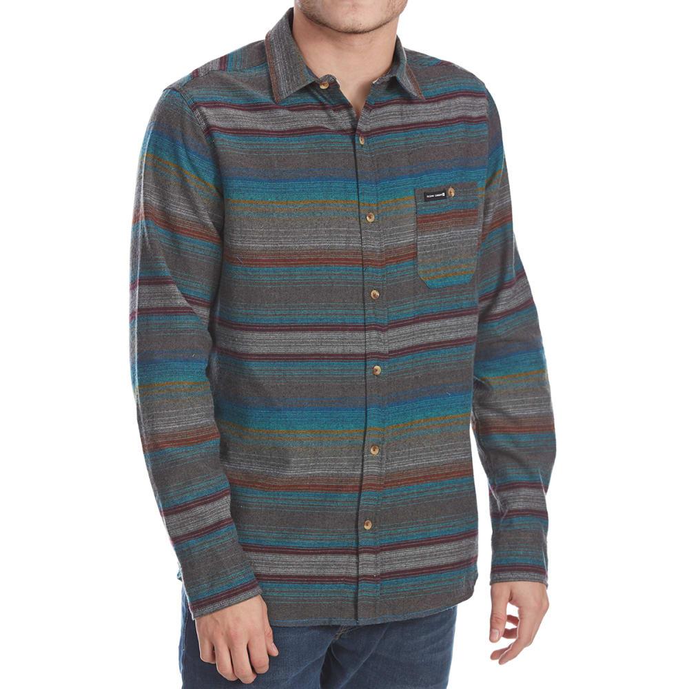 OCEAN CURRENT Guys' Hammock Stripe Flannel Long-Sleeve Shirt - MULTI