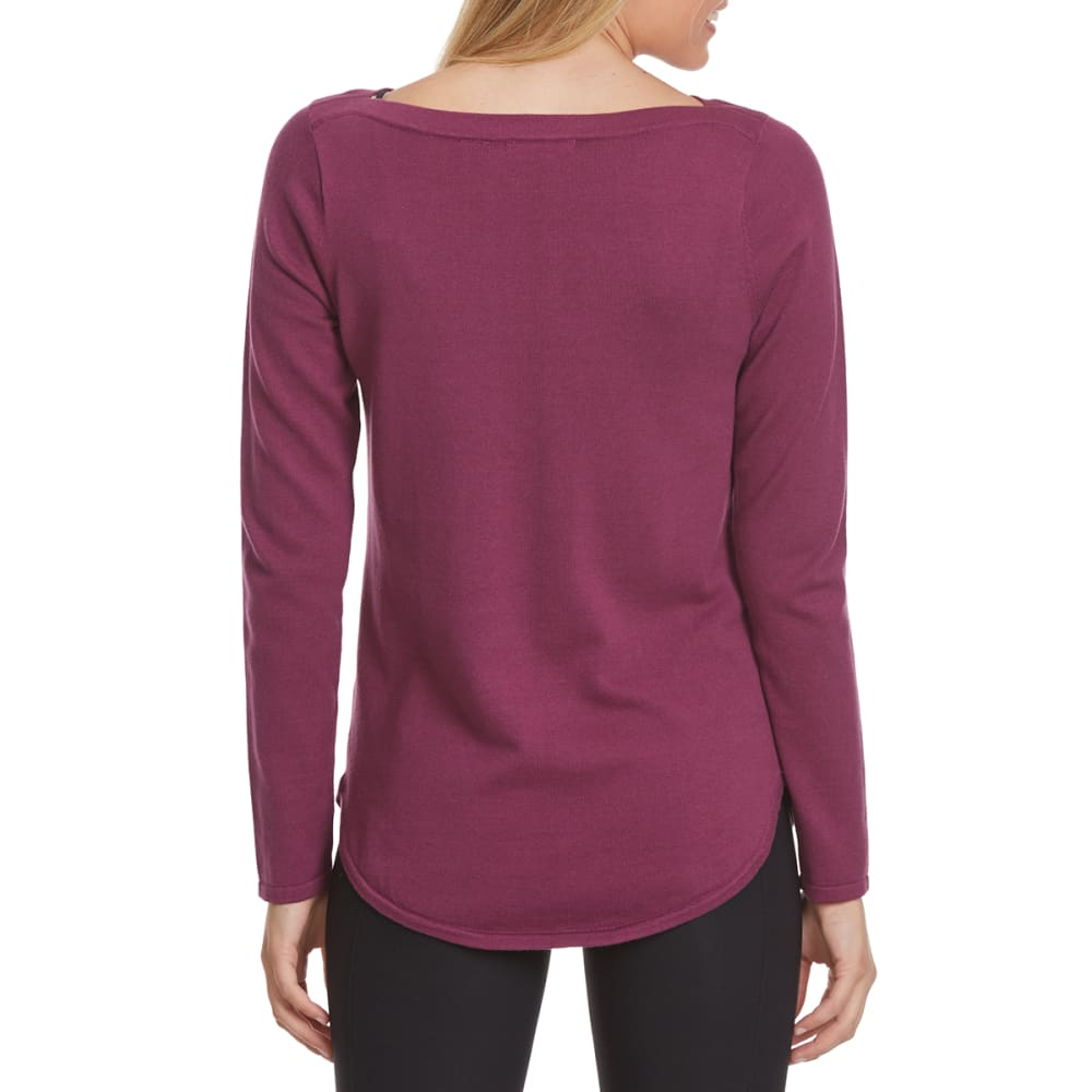 JEANNE PIERRE Women's Solid Boat Neck Sweater - DEWBERRY