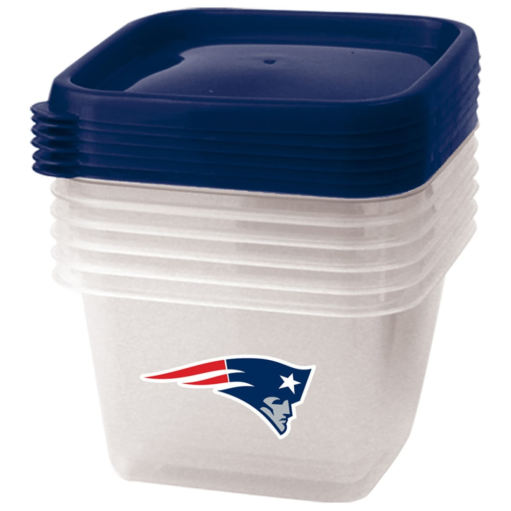 NEW ENGLAND PATRIOTS Square Storage Containers, Set of 6 - NO COLOR