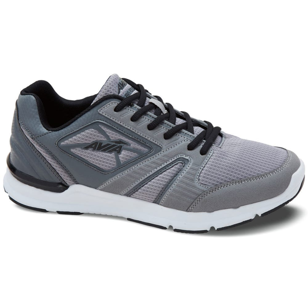 AVIA Men's Avi-Edge Cross-Training Shoes, Frost Grey/Steel Grey/Black, Wide - GREY