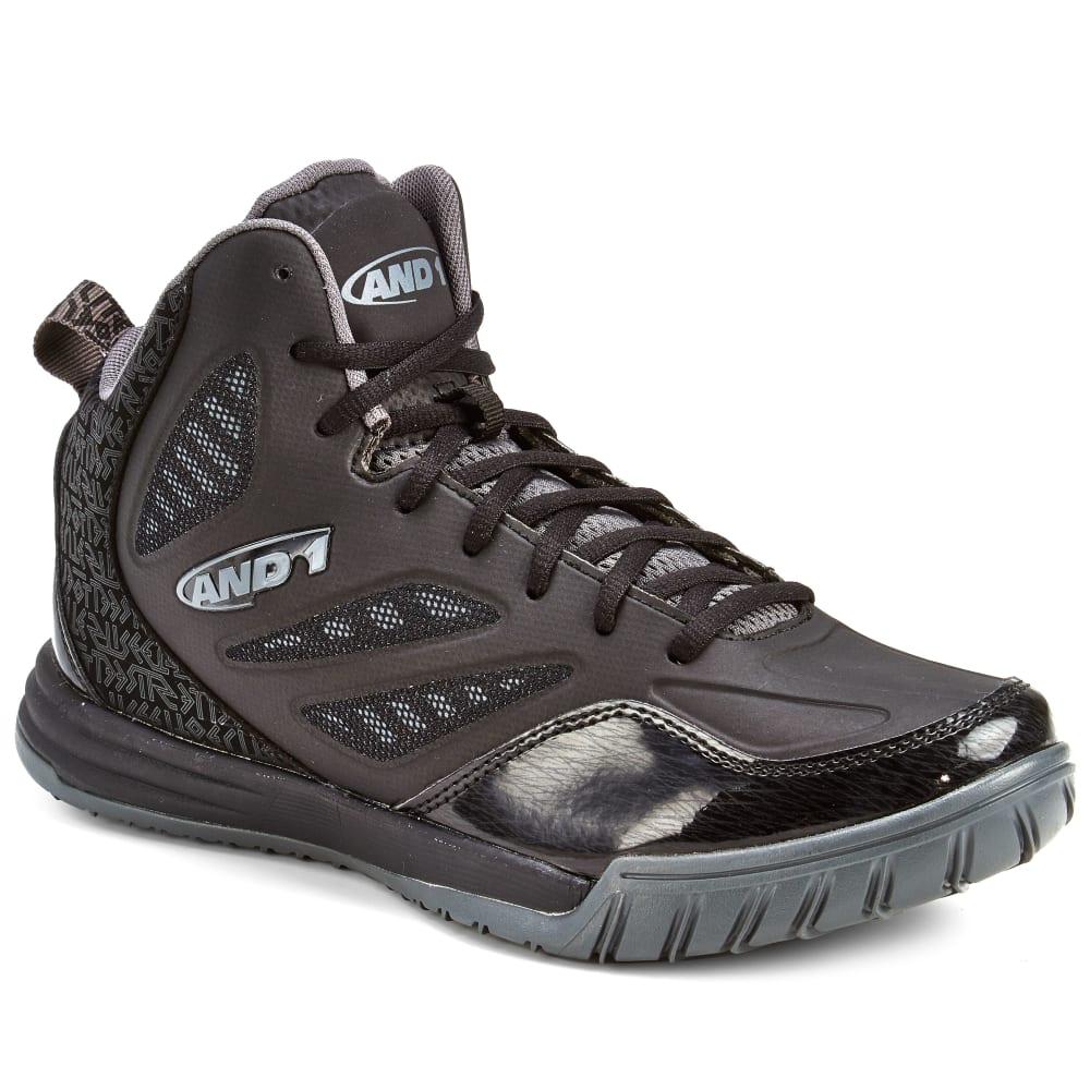 AND1 Men's Tactic Basketball Shoes, Black/Asphalt - BLACK