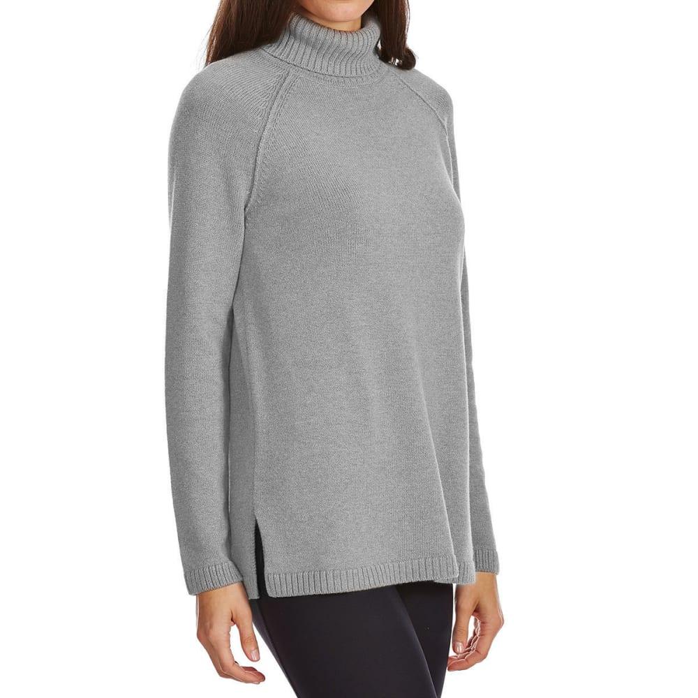JEANNE PIERRE Women's Perfect Turtleneck Long-Sleeve Sweater - SILVER GREY HEATHER