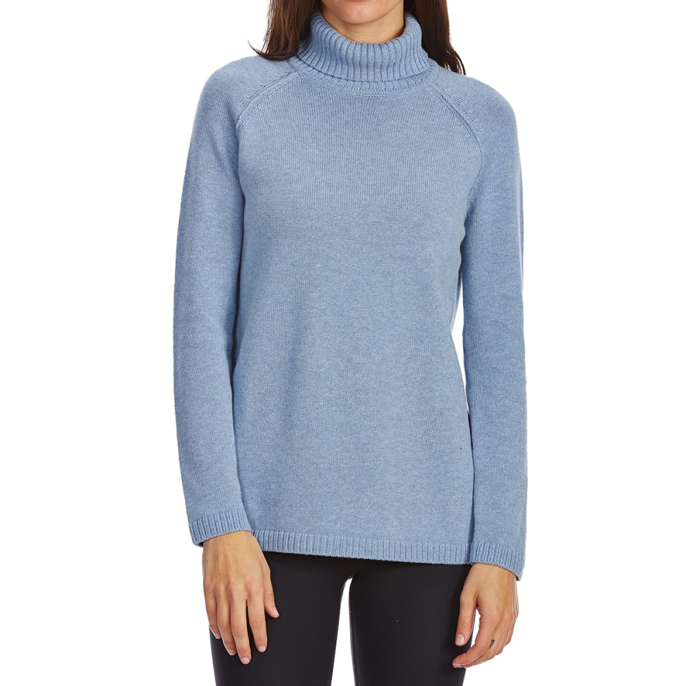 JEANNE PIERRE Women's Perfect Turtleneck Long-Sleeve Sweater - CHAMBRAY HEATHER