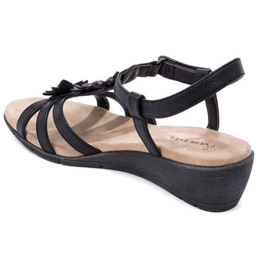 WEAR.EVER Women's Friendlier Sandals, Black - BLACK