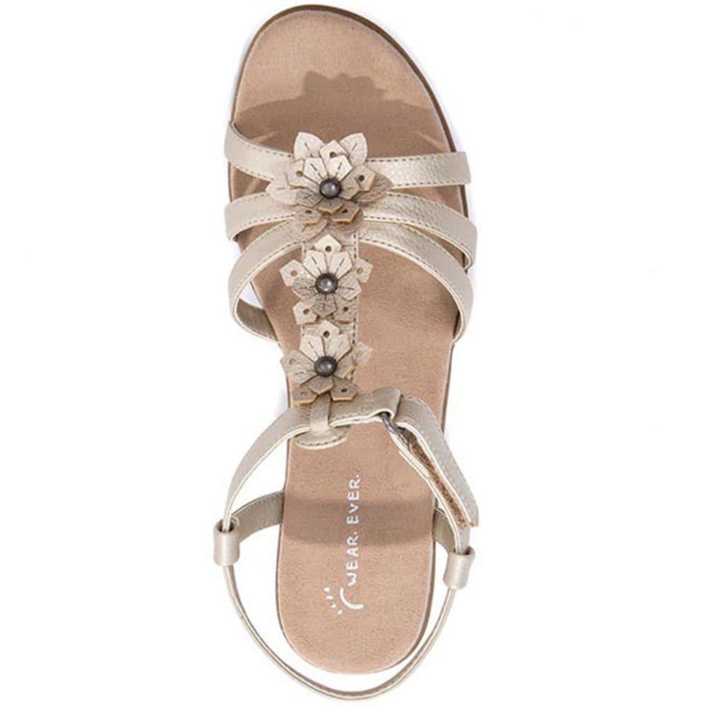 WEAR.EVER Women's Friendlier Sandals, Champagne - CHAMPAGNE
