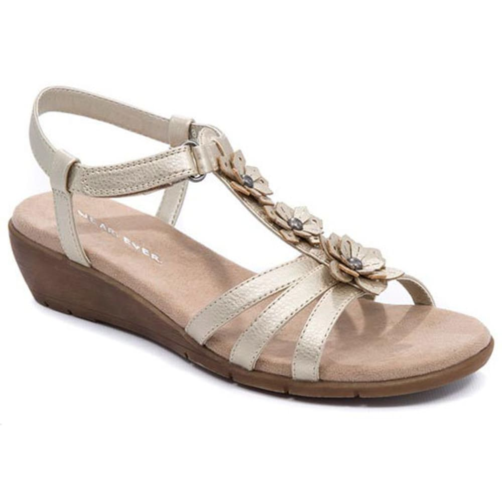 WEAR.EVER Women's Friendlier Sandals, Champagne - CHAMPAGNE