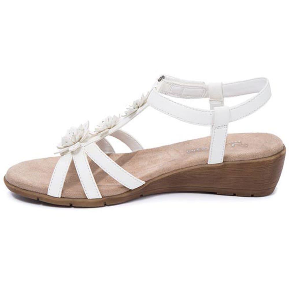 WEAR.EVER Women's Friendlier Sandals, White - WHITE
