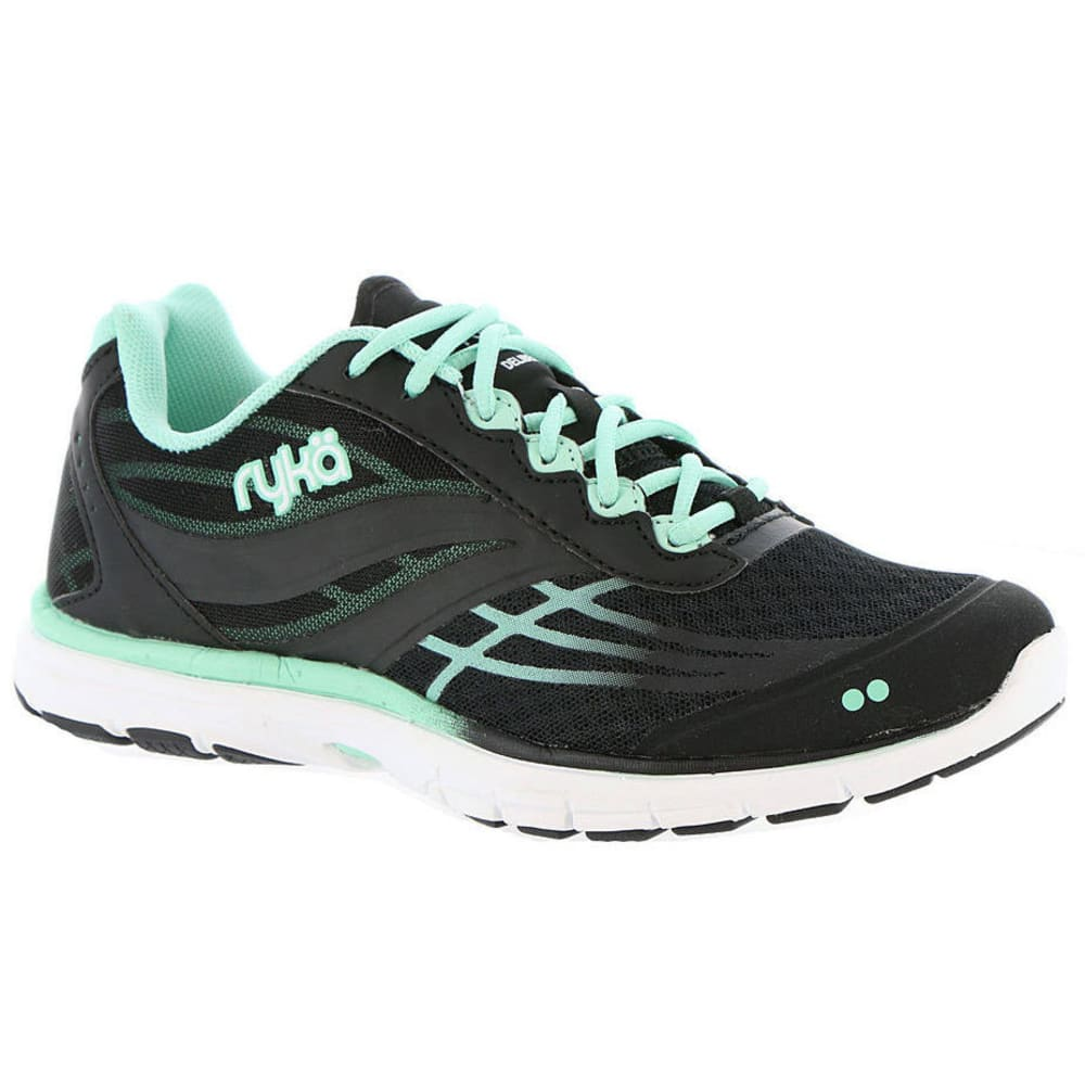 RYKA Women's Deliberate Cross-Training Shoes, Black/Mint/White - BLACK