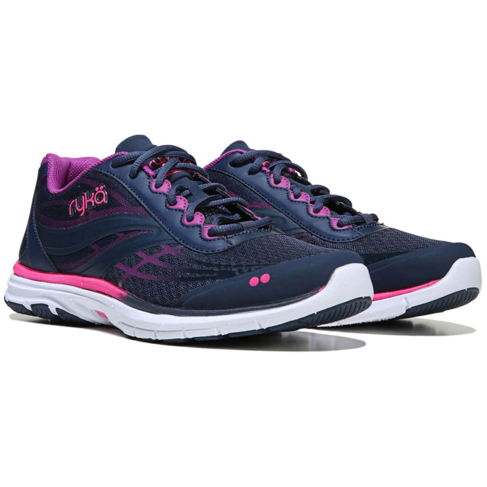 RYKA Women's Deliberate Cross-Training Shoes, Blue/Berry/Flamingo - BLUE