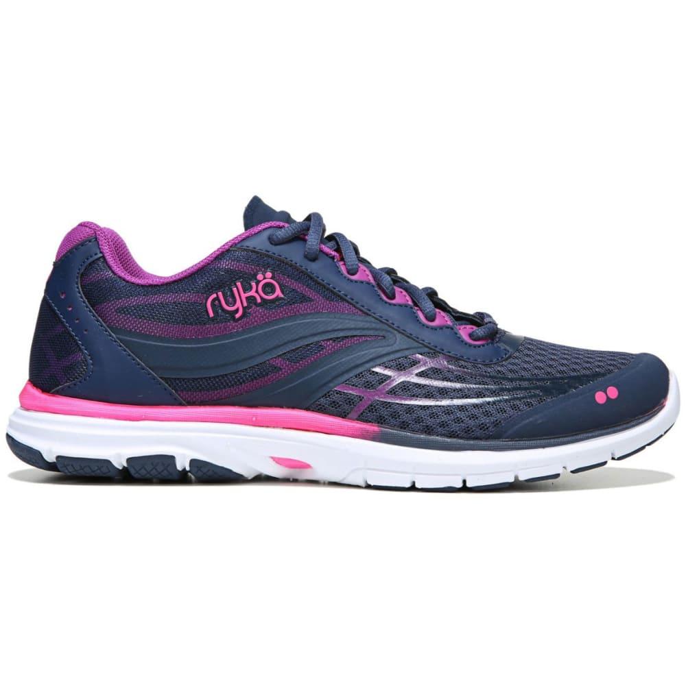 RYKA Women's Deliberate Cross-Training Shoes, Blue/Berry/Flamingo - BLUE