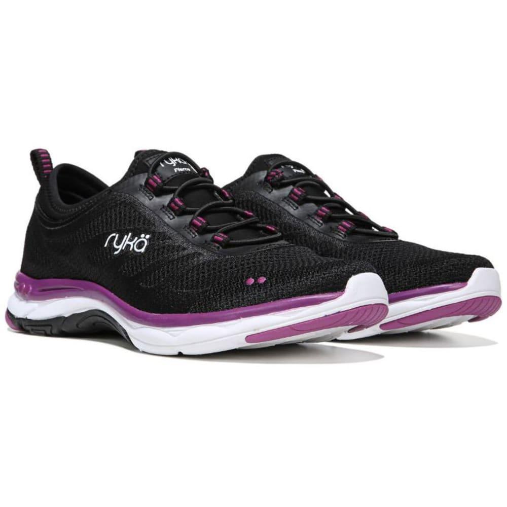 RYKA Women's Fierce Walking Shoes, Black/Grey/Berry - BLACK