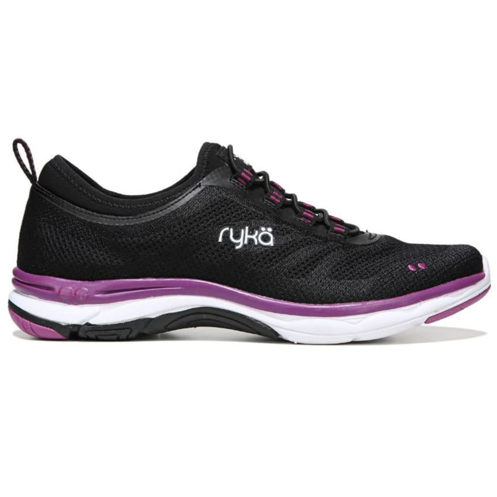 RYKA Women's Fierce Walking Shoes, Black/Grey/Berry - BLACK