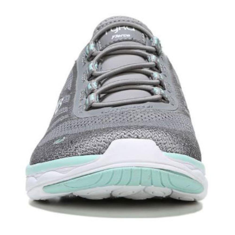 RYKA Women's Fierce Walking Shoes, Frost Grey/Grey/Mint - GREY