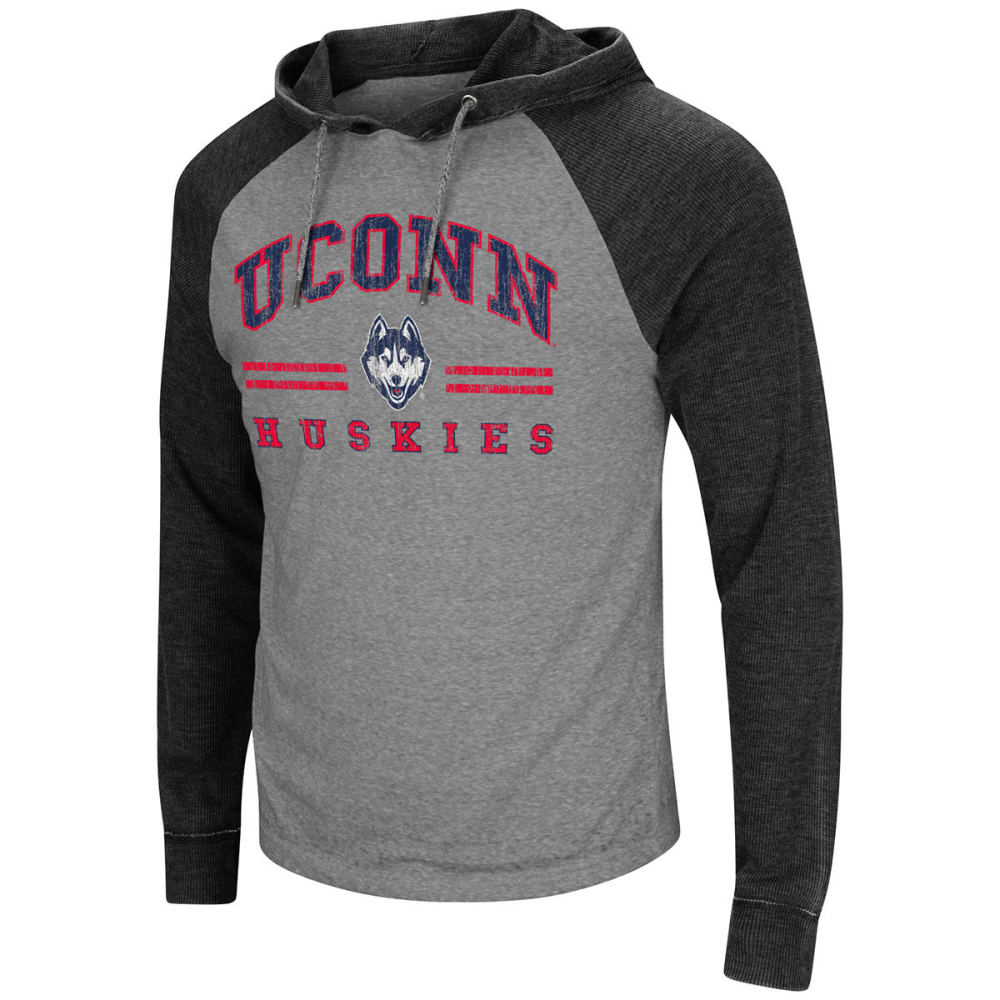 Uconn Men's Personal Flair Long-Sleeve Pullover Hoodie - Blue, M