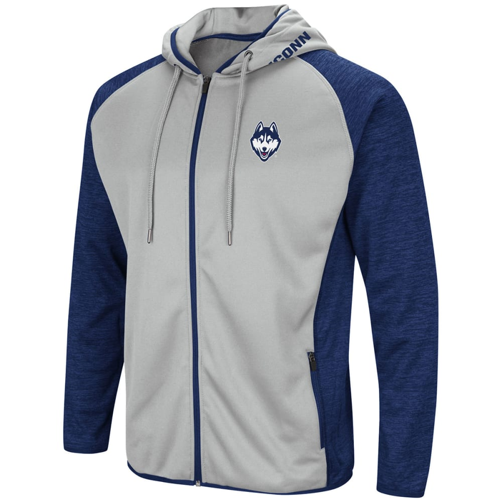 UCONN Men's Collating Full-Zip Hoodie - NAVY