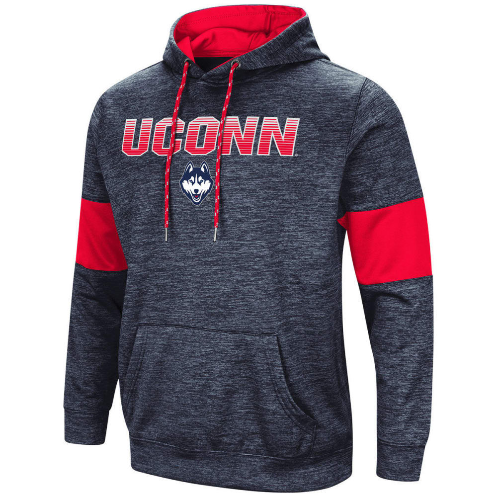 Uconn Men's Paycheck Long-Sleeve Pullover Hoodie - Blue, M