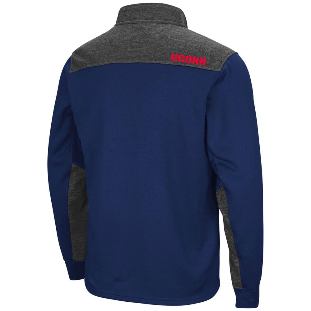 UCONN Men's Samir ¼-Zip Fleece Long-Sleeve Pullover - NAVY