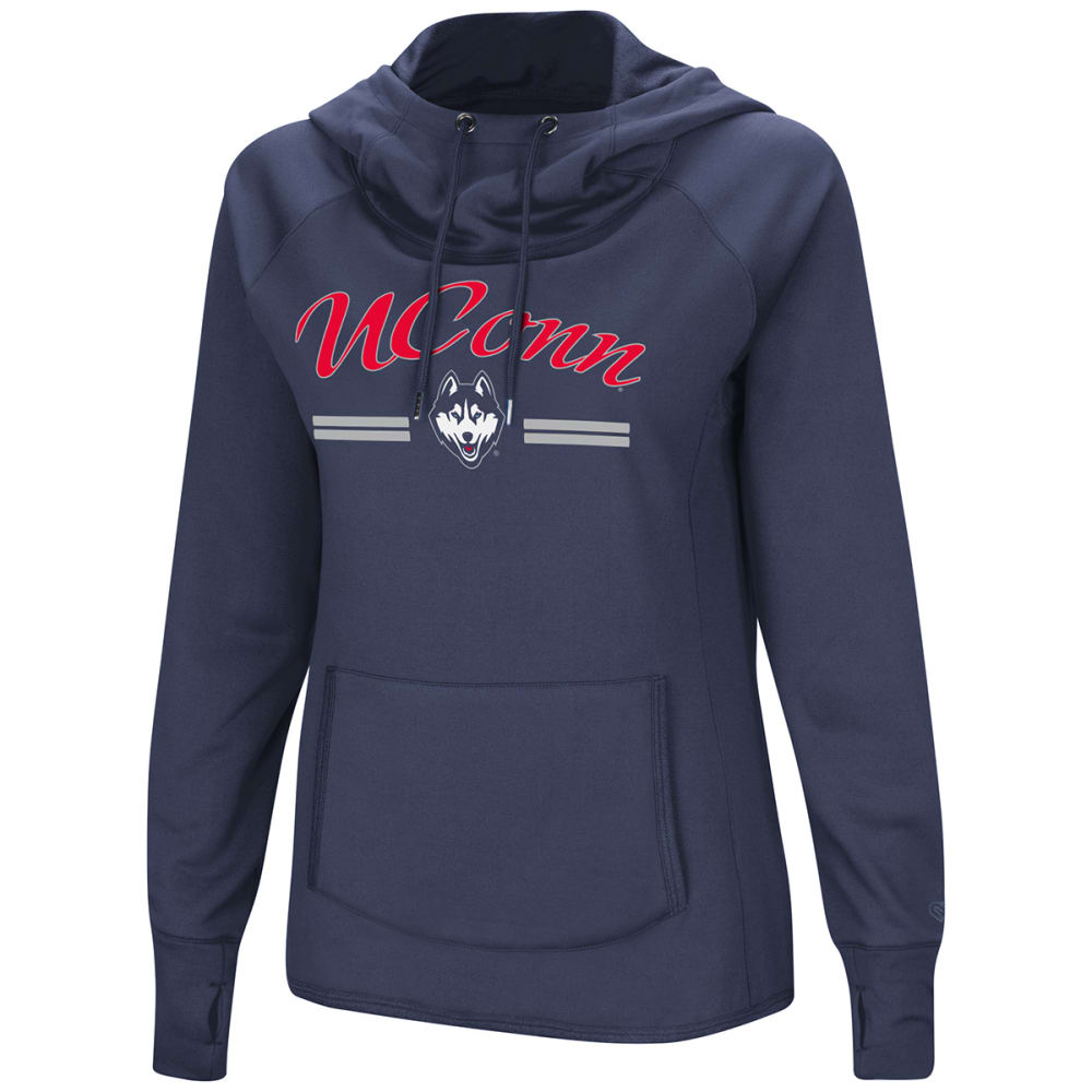 UCONN Women's Mawage Funnel Neck Pullover Hoodie - NAVY