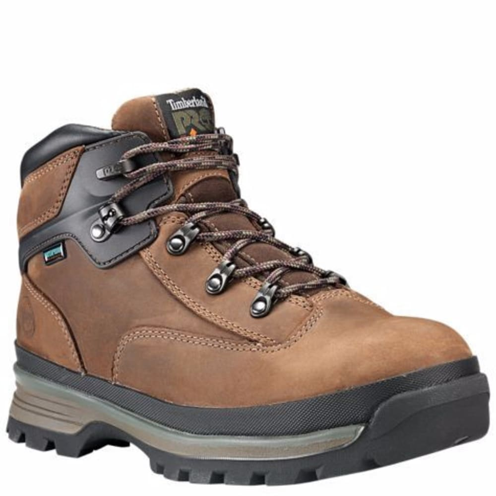 TIMBERLAND PRO Men's Euro Hiker Alloy Toe Work Boots - BROWN FG LEATHER