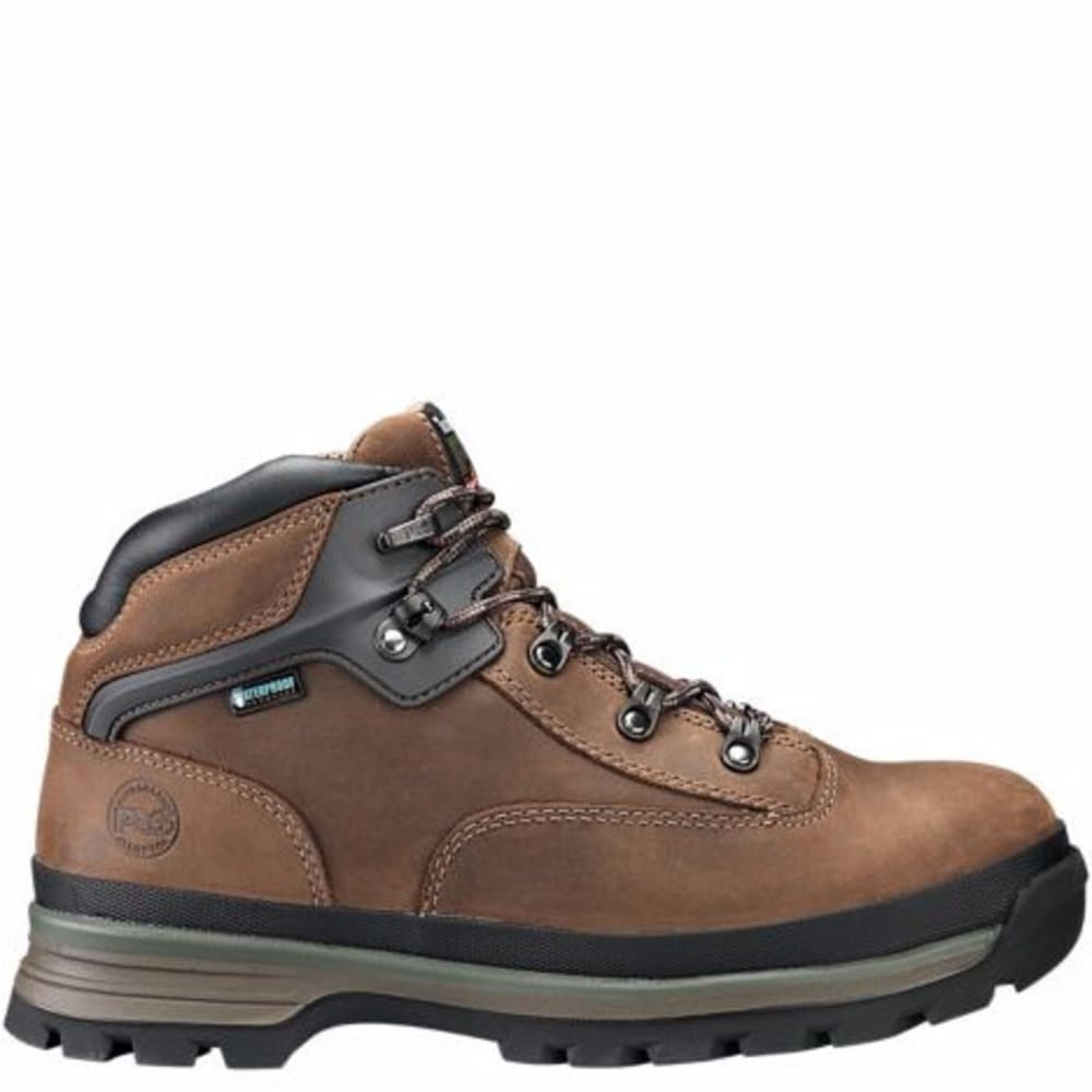 TIMBERLAND MEN'S PRO® EURO HIKER ALLOY TOE WORK BOOTS - BROWN FG LEATHER