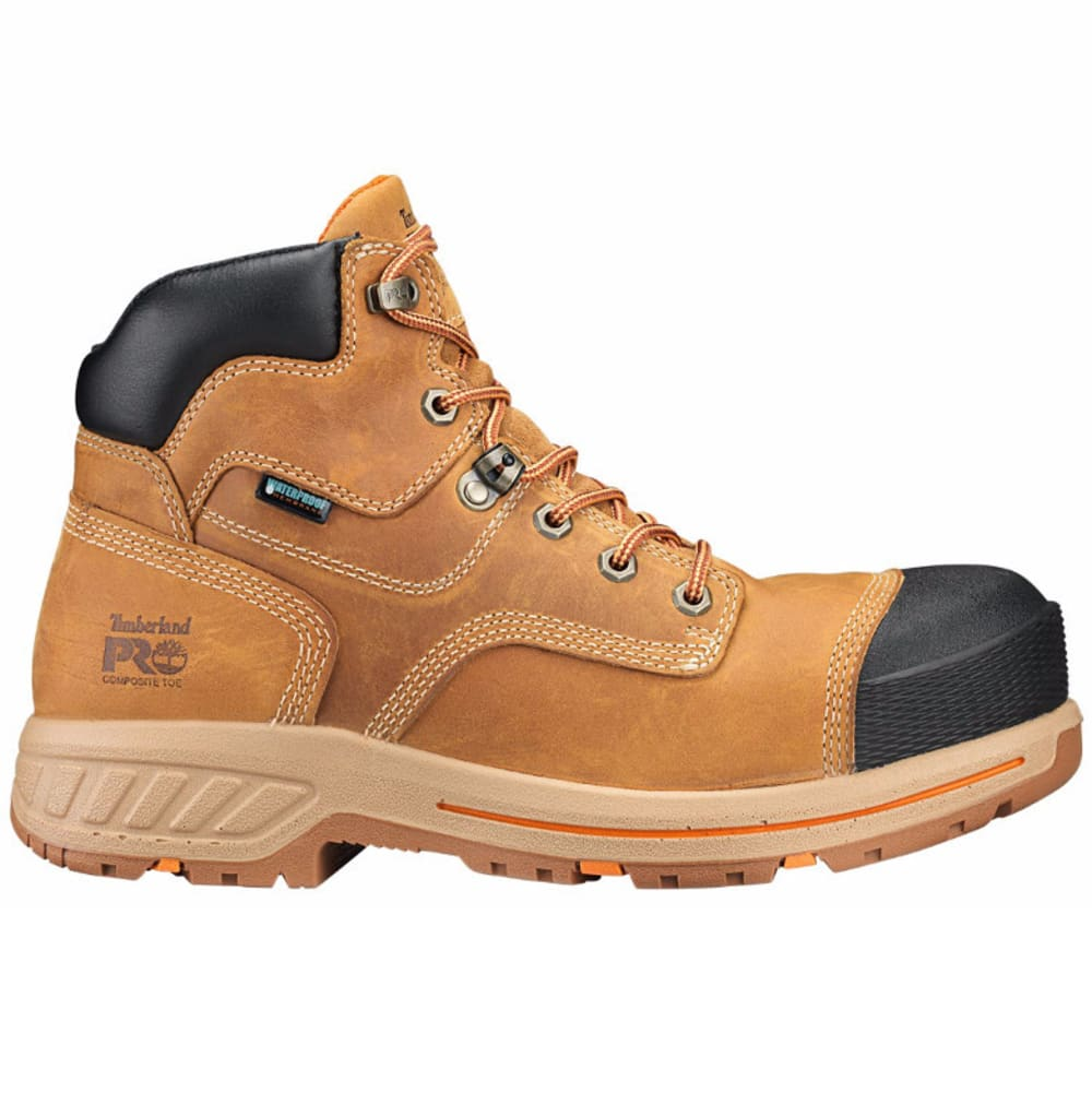 """TIMBERLAND MEN'S PRO® HELIX HD 6"""" COMP TOE WORK BOOTS - DISTRESSED WHEAT"""