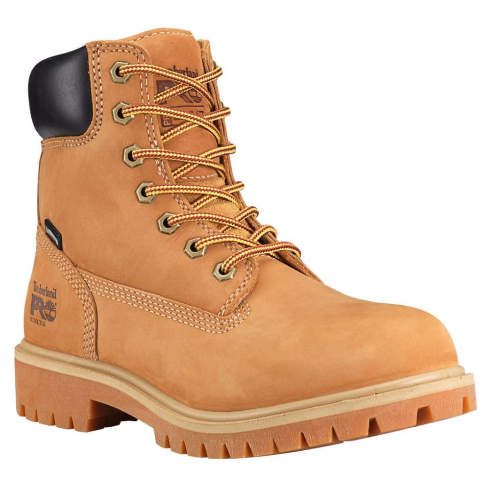 TIMBERLAND PRO Women's 6 in. Direct Attach Waterproof Insulated Steel Toe Work Boots, Wheat Nubuck 6