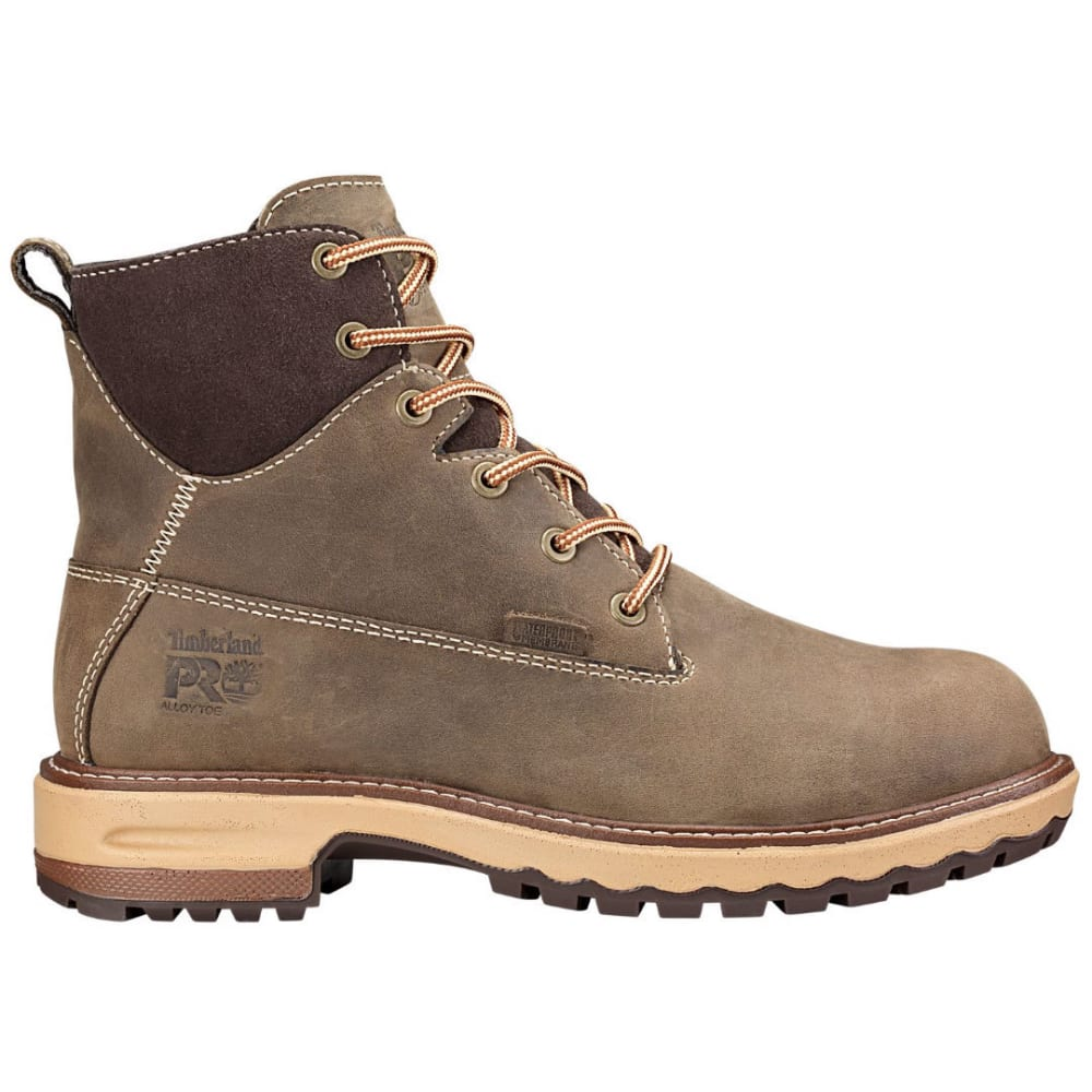 TIMBERLAND PRO Women's 6 in. Hightower Waterproof Alloy Toe Work Boots, Turkish Coffee Brown - TURKISHCOFFEE  BR/MS