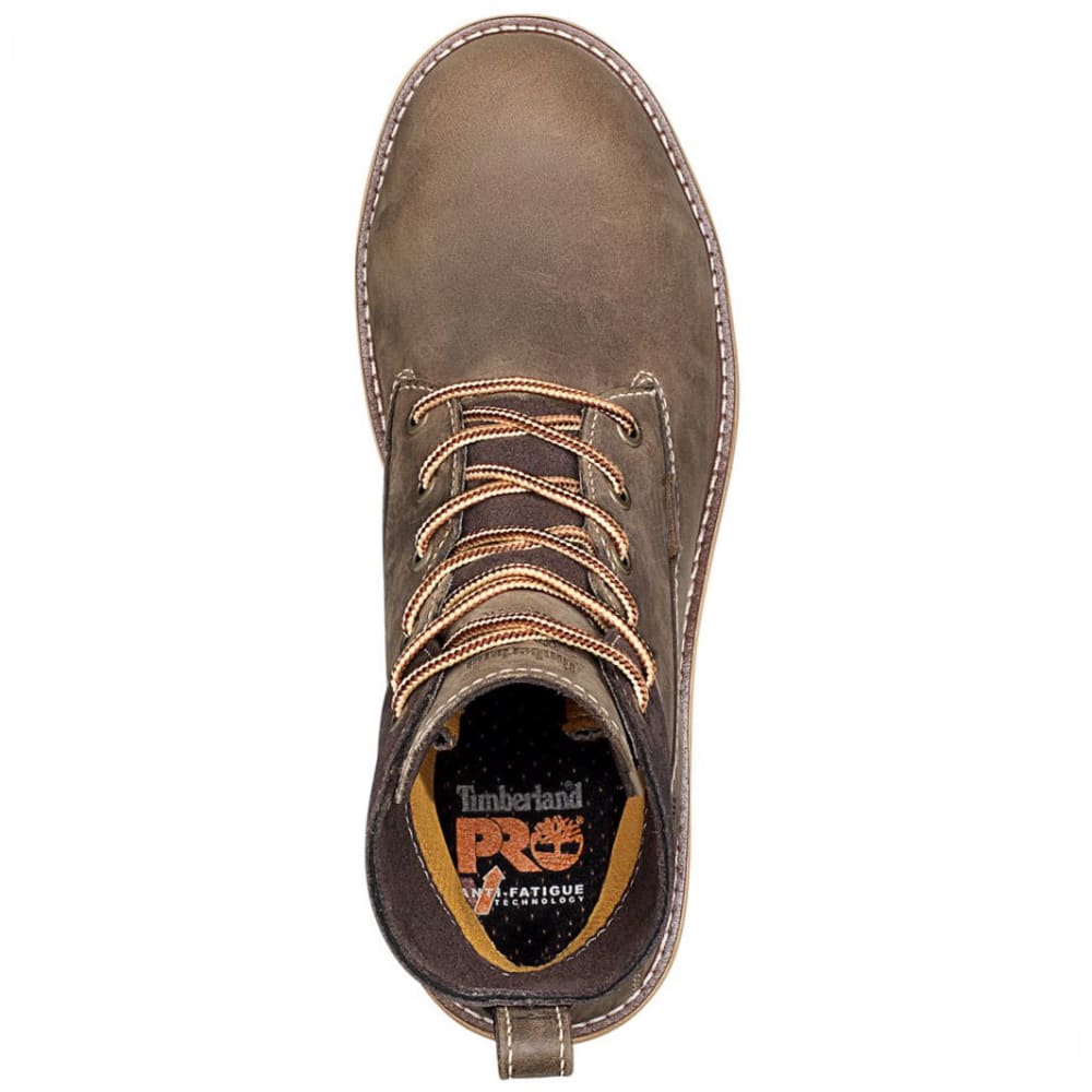 TIMBERLAND PRO Women's 6 in. Hightower Waterproof Alloy Toe Work Boots, Turkish Coffee Brown - 214 TRKISHCFE  BR/MS