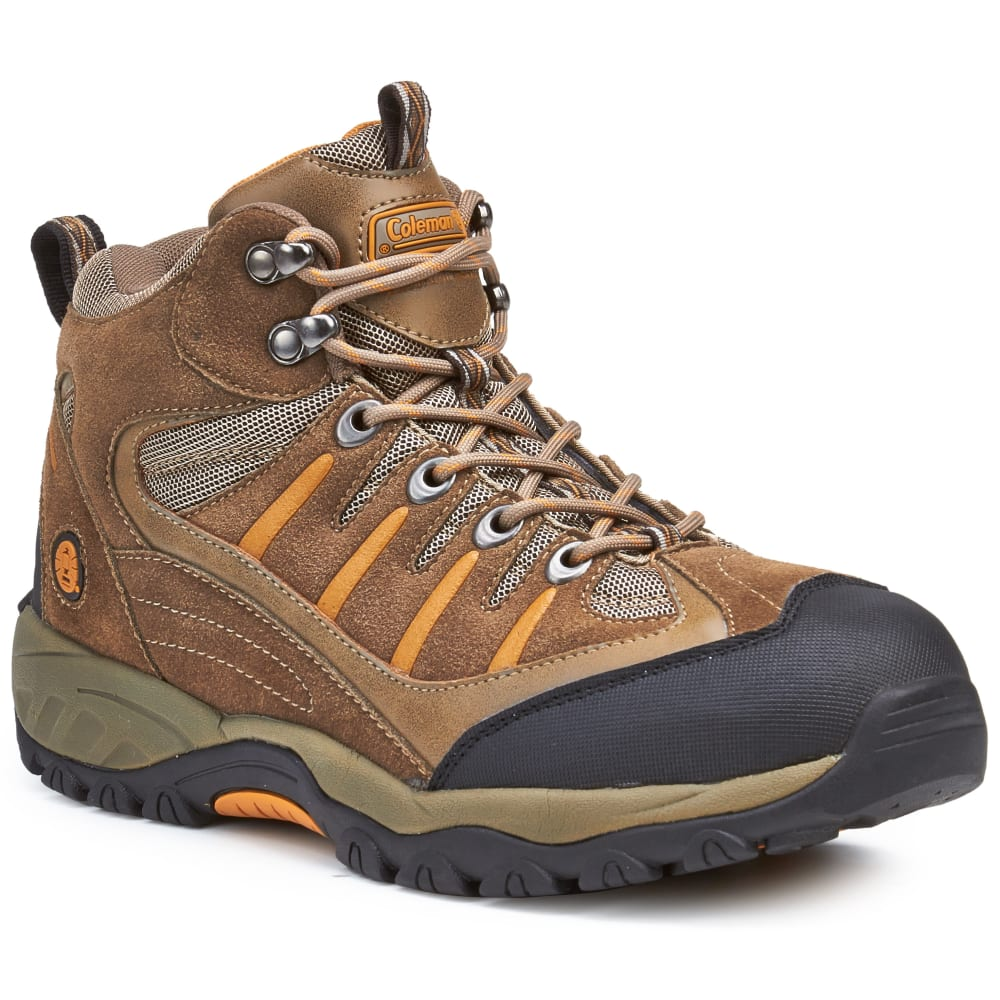 Coleman Men's Buckeye Waterproof Mid Hiking Boots, Taupe - Brown, 8
