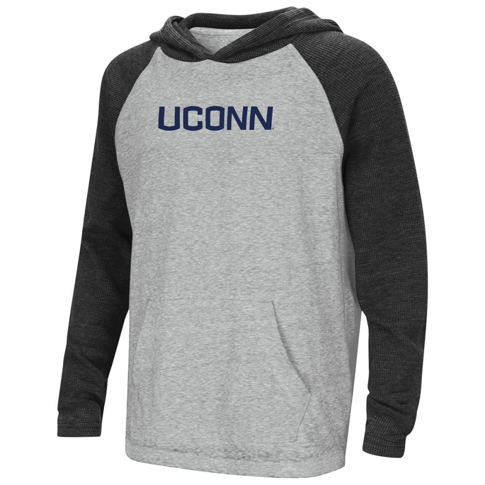 UCONN Boys' One-Eyed Raglan Hoodie Tee - GREY
