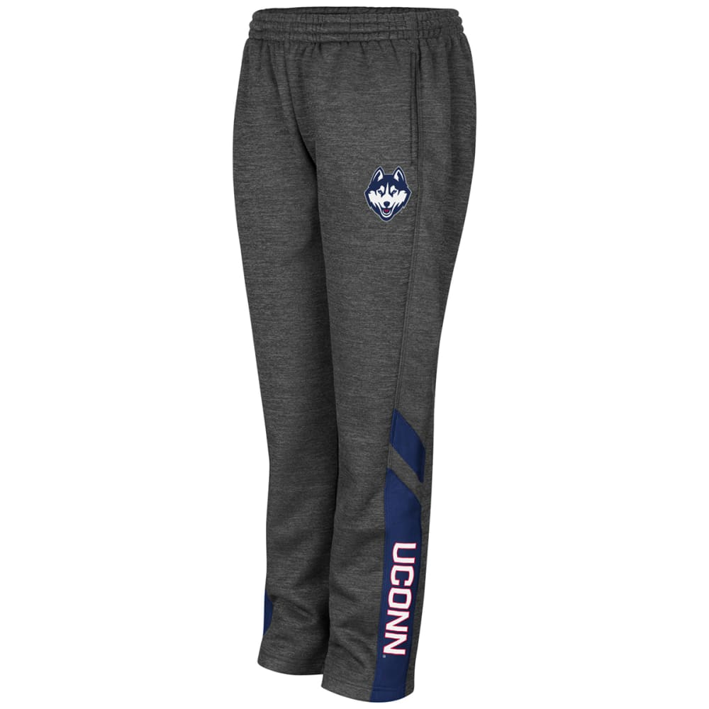 UCONN Boys' Heather Poly Fleece Sweatpants - CHARCOAL