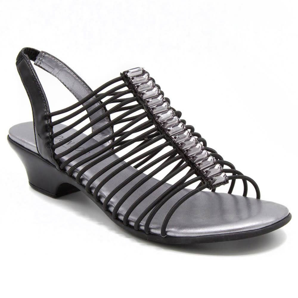LONDON FOG Women's Emma Sandals, Black - BLACK