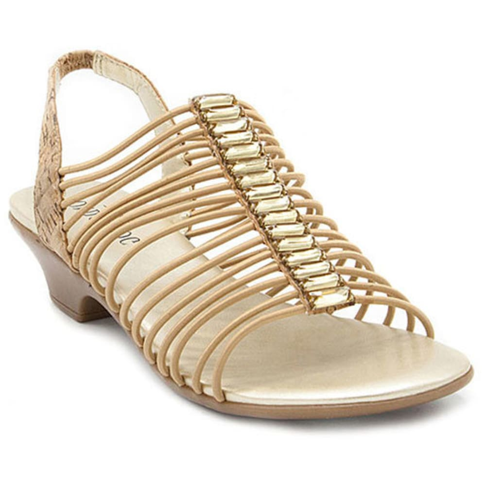 LONDON FOG Women's Emma Sandals, Natural/Cork - NAT CORK