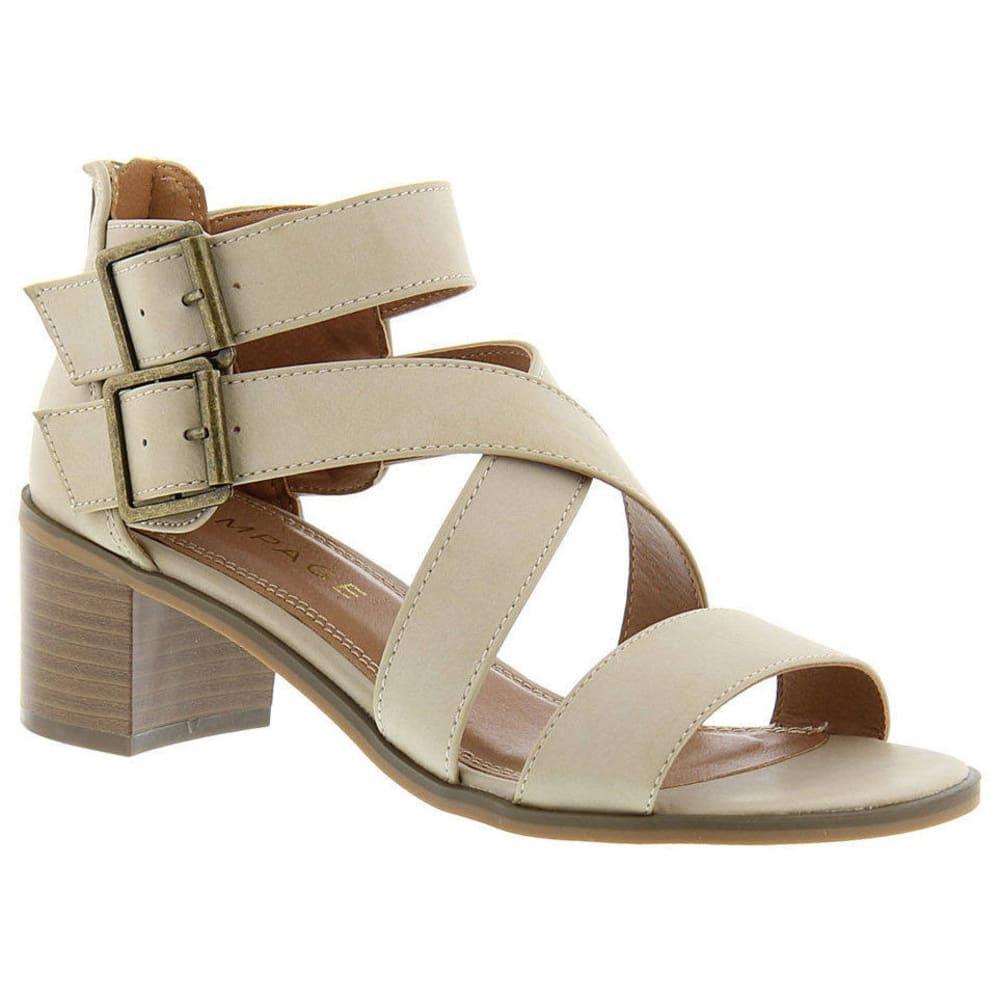 RAMPAGE Women's Havarti Block Heel Sandals, Distressed Taupe - TAUPE