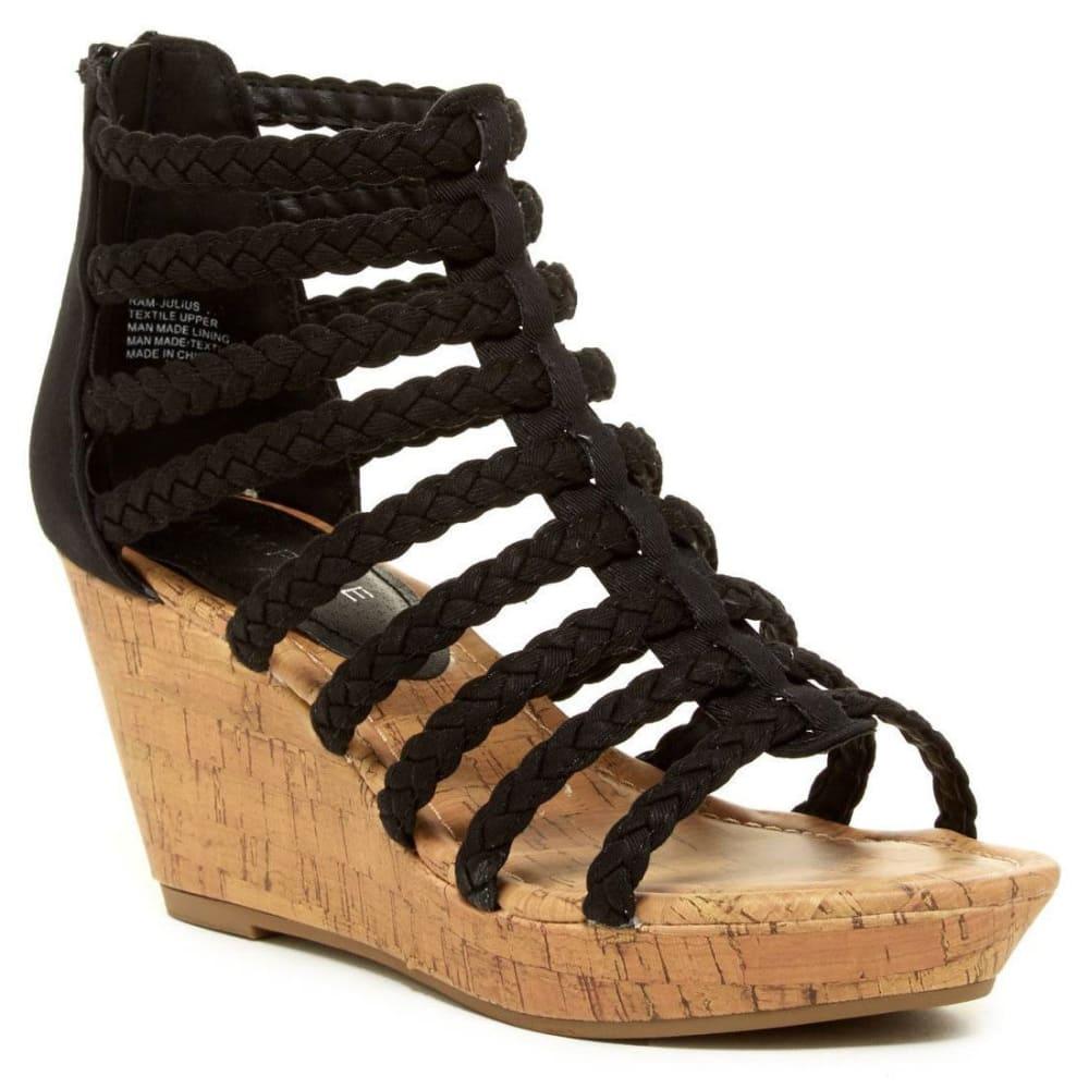 RAMPAGE Women's Julius Wedge Sandals, Black - BLACK
