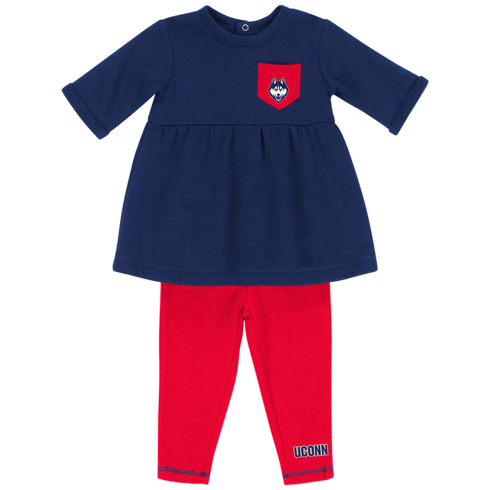 UCONN Infant Girls' Pinchers of Peril Two-Piece Set - NAVY