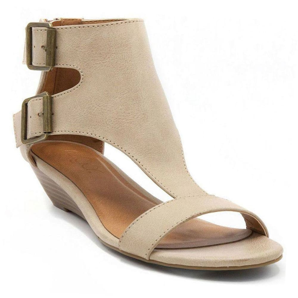SUGAR Women's Wigout Wedge Sandals, Natural - NATURAL