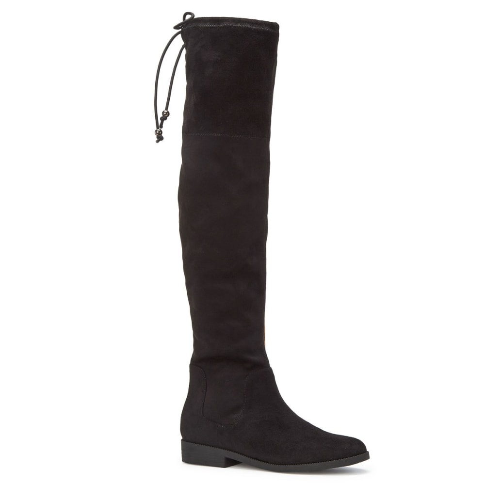 RAMPAGE Women's Upside Stretch Over-The-Knee Boots, Black - BLACK