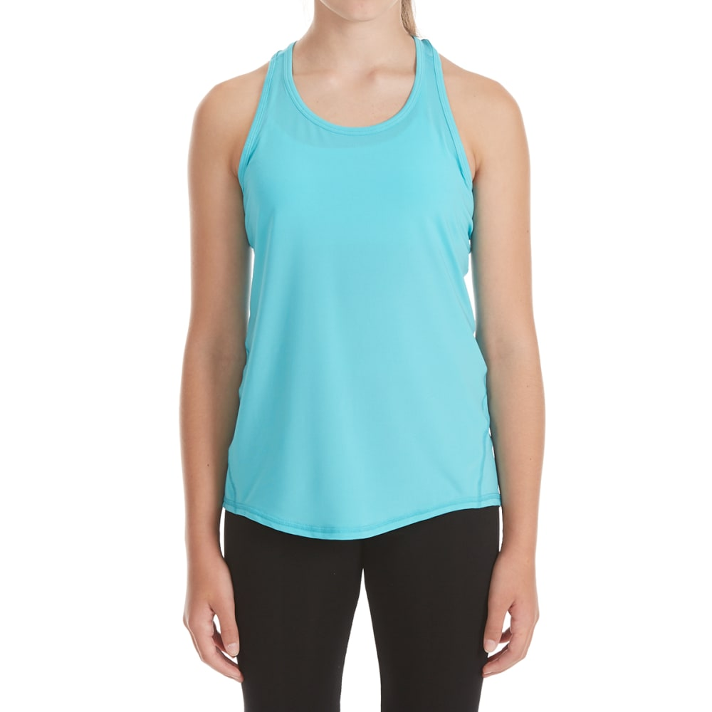 GAIAM Girls' Meditate Tank Top - SCUBA BLUE