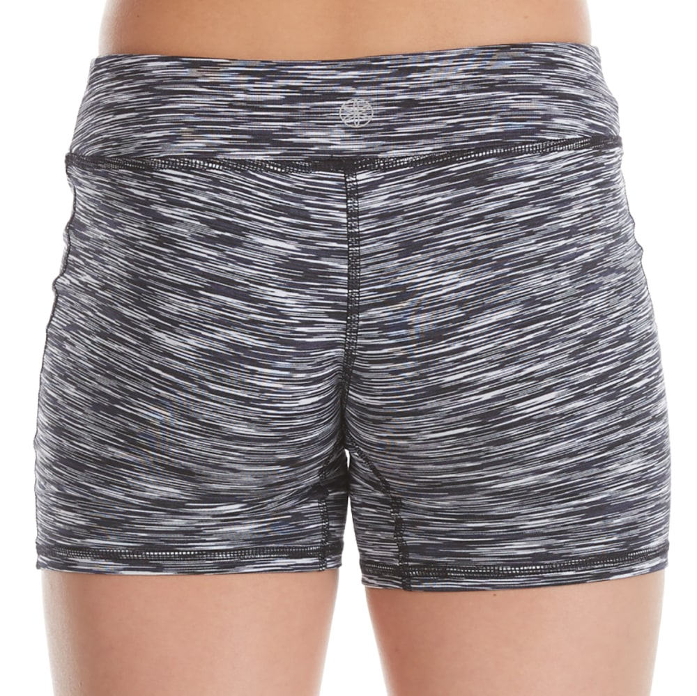 GAIAM Girls' Shape Up Boy Shorts - BLACK SPACE DYE