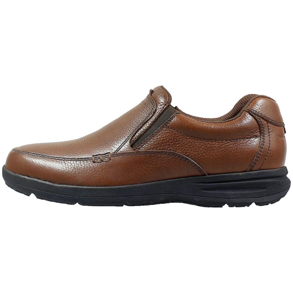 NUNN BUSH Men's Cam Moc Toe Slip-On Shoes, Wide - COGNAC