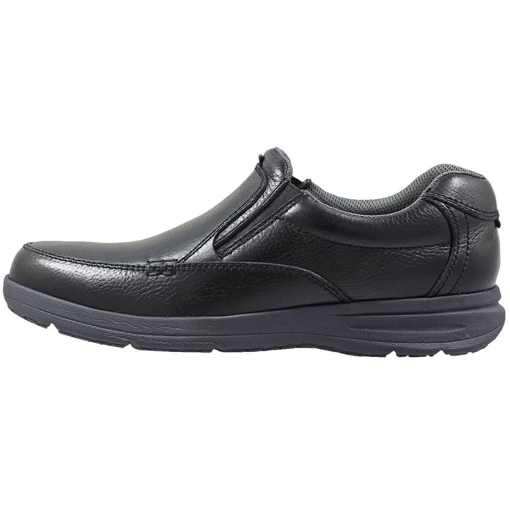NUNN BUSH Men's Cam Moc Toe Slip-On Shoes, Black - BLACK