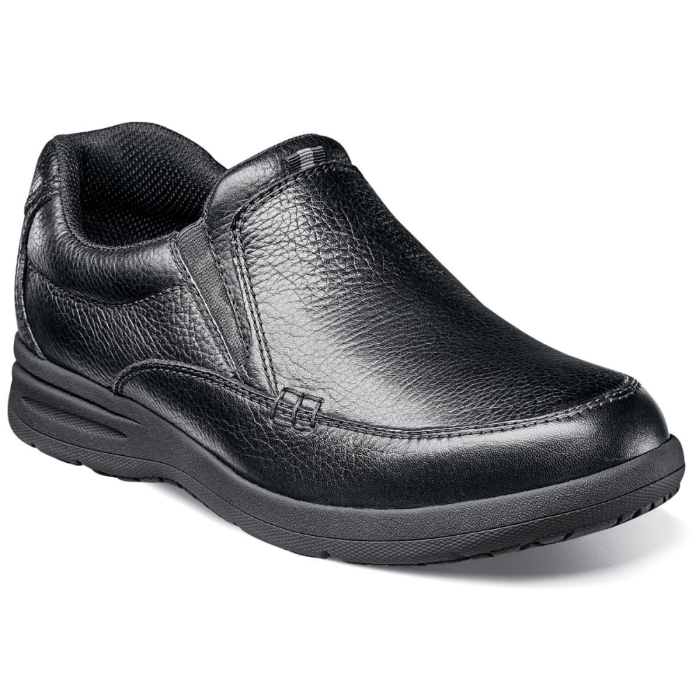 NUNN BUSH Men's Cam Moc Toe Slip-On Shoes, Black - BLACK