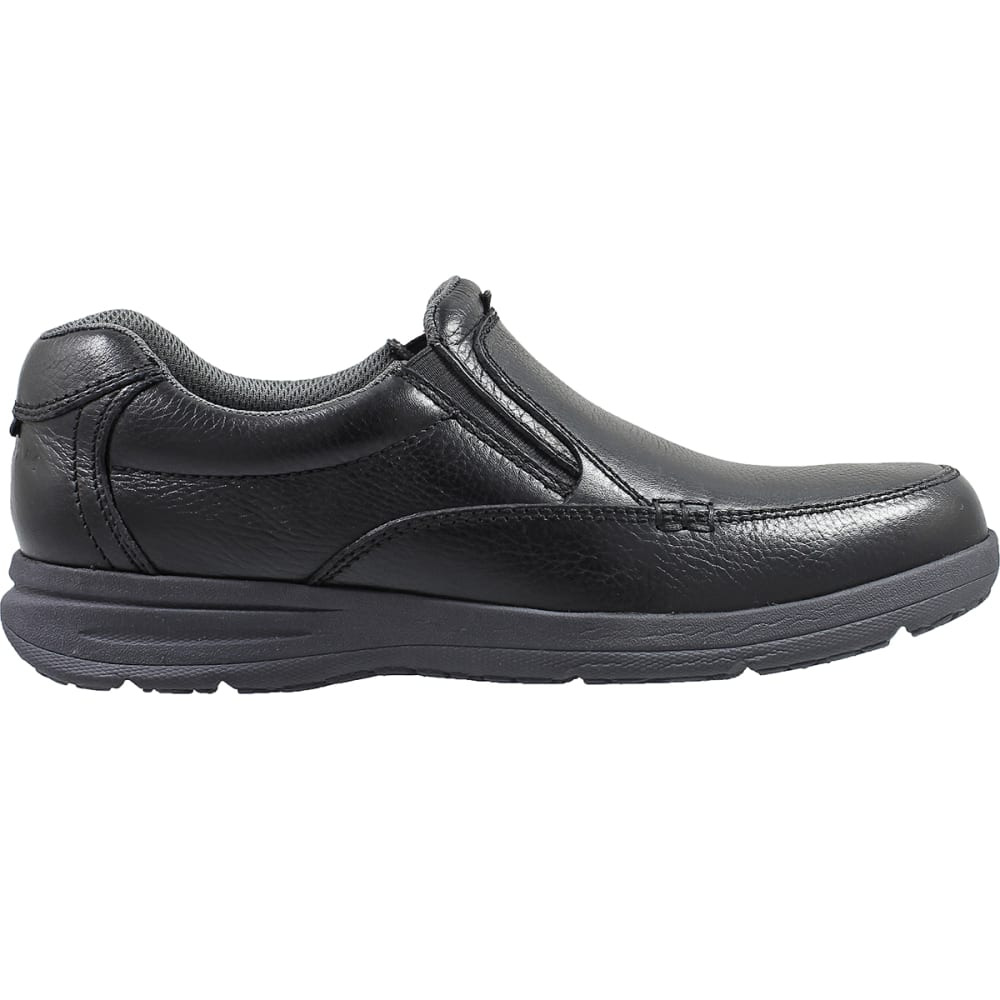 NUNN BUSH Men's Cam Moc Toe Slip-On Shoes, Wide - BLACK