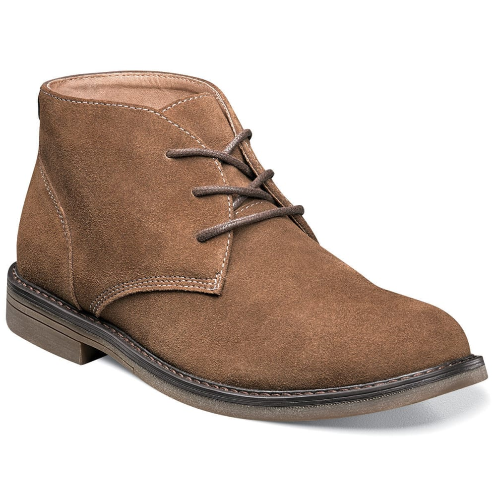 NUNN BUSH Men's Lancaster Plain Toe Chukka Boots, Camel - CAMEL