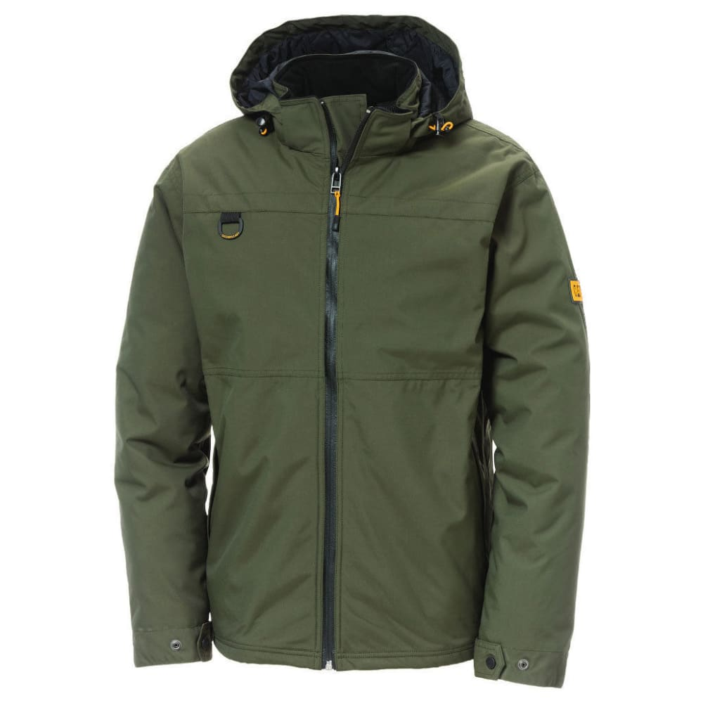 CATERPILLAR Men's Chinook Waterproof Hooded Work Jacket - 10639 ARMY GREEN